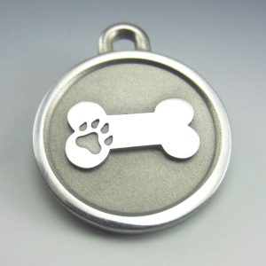 medium Stainless Steel Bone durable pet tag