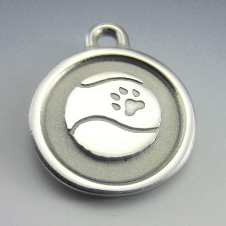 medium stainless steel tennis ball id tag