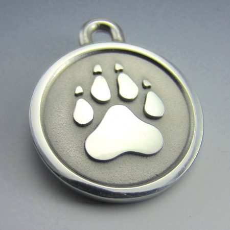 medium stainless steel paw id tag