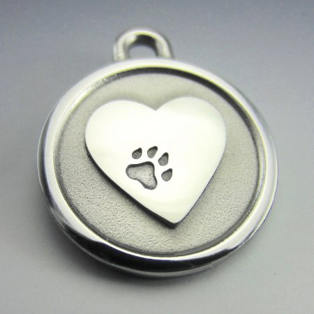 medium stainless steel heart lifetime guaranteed dog id tag