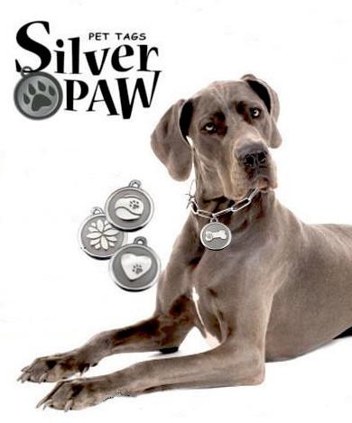 Silver Paw Tags Sticker Shock