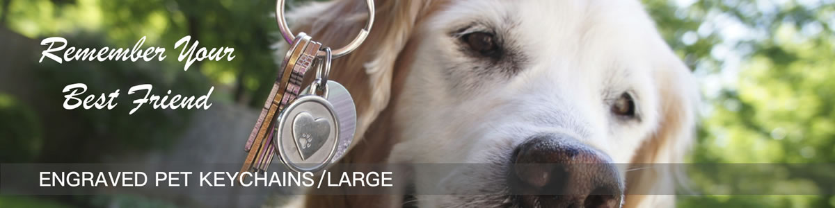 Large Engraved Pet Keychains